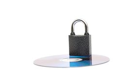 Lock on a cd Royalty Free Stock Images