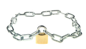 The lock with chain Stock Photo