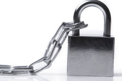 Lock and chain Royalty Free Stock Photos