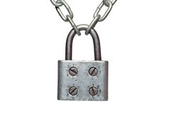 A lock on a chain Stock Photography