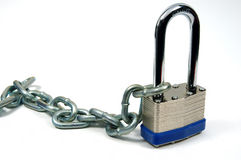 Lock and Chain 3 Royalty Free Stock Photos