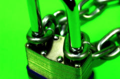 Lock and Chain Royalty Free Stock Image