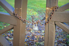 Lock, Chain, Brown Fence Stock Photos
