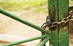 Lock with a chain Stock Image