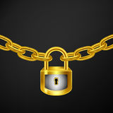 Lock chain gold Royalty Free Stock Photos
