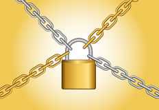 Lock with chain Stock Photography