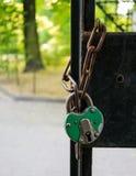 Lock on chain Royalty Free Stock Photos