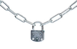 Lock and chain isolated Stock Image
