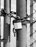 Lock and Chain Security Royalty Free Stock Image