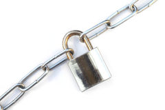 Lock and chain Stock Image