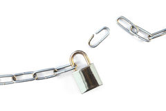 Lock and chain Royalty Free Stock Photo