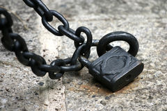 Lock & Chains. A set of lock and chain Royalty Free Stock Image