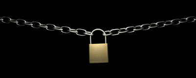 Lock with chains Royalty Free Stock Photo