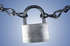 Lock and chains Stock Photo