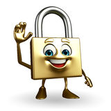 Lock Character is hello pose Stock Photography