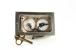Lock Chronometer with key Royalty Free Stock Photo