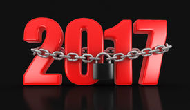2017 and lock. (clipping path included Stock Photography