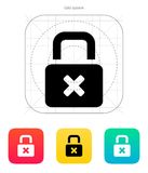 Lock is close icon. Vector illustration Royalty Free Stock Images