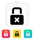 Lock is close icon. Vector illustration royalty free illustration