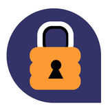 Lock or closed icon of set tricolor Stock Photo
