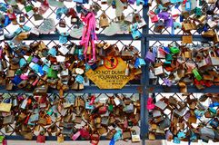 Lock Collection in Seoul Park Royalty Free Stock Images