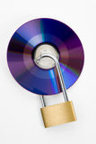 Lock and Computer CD. Data Security royalty free stock photos