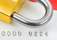 Lock and credit card Royalty Free Stock Image