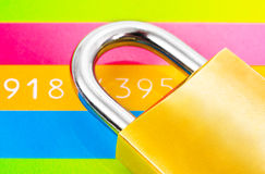 Lock and credit card stock photography