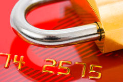Lock and credit card Royalty Free Stock Photos