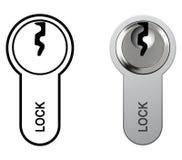 Lock cylinder Stock Photography