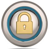 Lock 3d icon isolated on white background. 3D illustration. Lock 3d icon isolated on white background. 3D illustration vector illustration