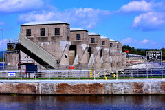 Lock & Dam #5 on the Mississippi River, USA Royalty Free Stock Photo