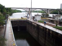 Lock and Dam No. 1 Royalty Free Stock Images