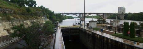 Lock and Dam No. 1 Stock Photo