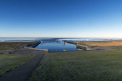 Lock from dam to Wadden Sea Royalty Free Stock Photography