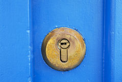 Lock on door Royalty Free Stock Photography