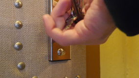 Lock the Door. A man locks the safety lock. Audio is included stock footage