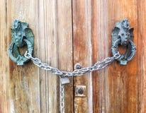 Lock door. Old italian door lock Royalty Free Stock Images