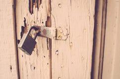 Lock on Door Stock Photo