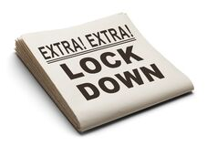 Free Lock Down News Paper Stock Photography - 176317782