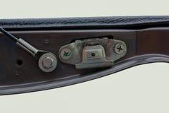 Lock the end cap pickup. Lock the end cap pickup, Isolated on white background stock photography