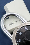 Lock and a enter key. Concept online safety Stock Photo