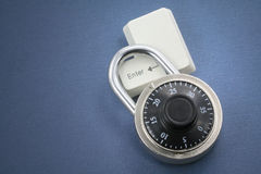 Lock and a enter key Royalty Free Stock Images