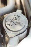 Lock för behållare för bilvindrutapackning Arkivbild
