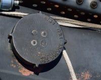 Lock för diesel- bränsle endast med filtret royaltyfri bild