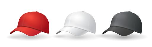 Lock för likformig för mallar för baseballhattar royaltyfri illustrationer