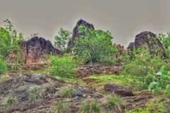 Lock för moln för fredbergvän med berget fotografering för bildbyråer