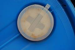 Lock för plast- behållare, säkerhetslock för 200 liter behållare för liqudidkemikalie Royaltyfria Foton