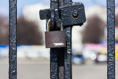 The lock on the fence Royalty Free Stock Images