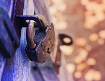 Lock on Fence for Security Royalty Free Stock Photos